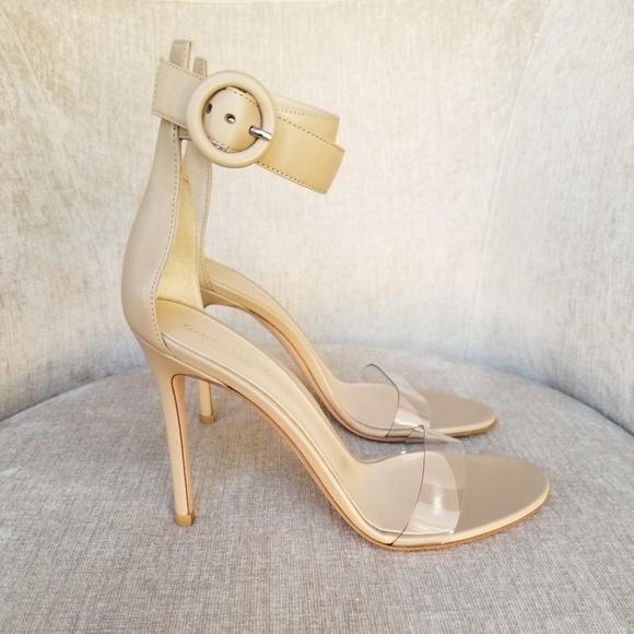 cd55492f98e NIB Gianvito Rossi Nude Leather Portofino Sandals